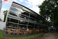 Audi Sport team hospitality area