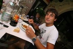 One last lunch at home for Bruno Spengler, before leaving for the track