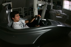 At home near Strasbourg: Bruno Spengler plays his racing sim