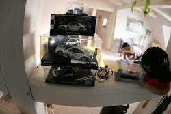 At home near Strasbourg: miniature of Bruno Spengler's racing cars