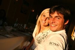 Dinner in Nuremberg: Bruno Spengler poses with his girlfriend Franziska