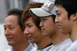 Kazuki Nakajima, Kohei Hirate and Kamui Kobayashi