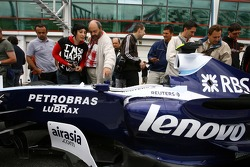 Fans in the pitlane with F1 Cars