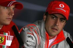 Fernando Alonso, McLaren Mercedes, Kimi Raikkonen , Scuderia Ferrari