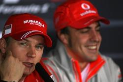 Kimi Raikkonen , Scuderia Ferrari, Fernando Alonso, McLaren Mercedes