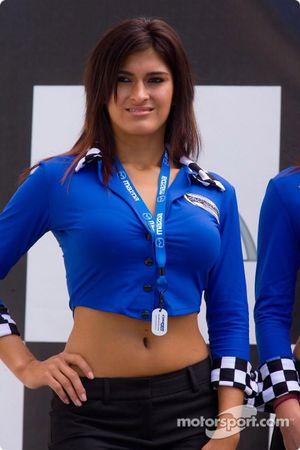 Charming podium girl