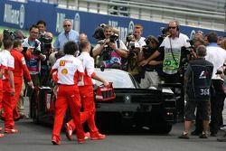 Michael Schumacher, Scuderia Ferrari, in a Ferrari FXX with Zinedine Zidane