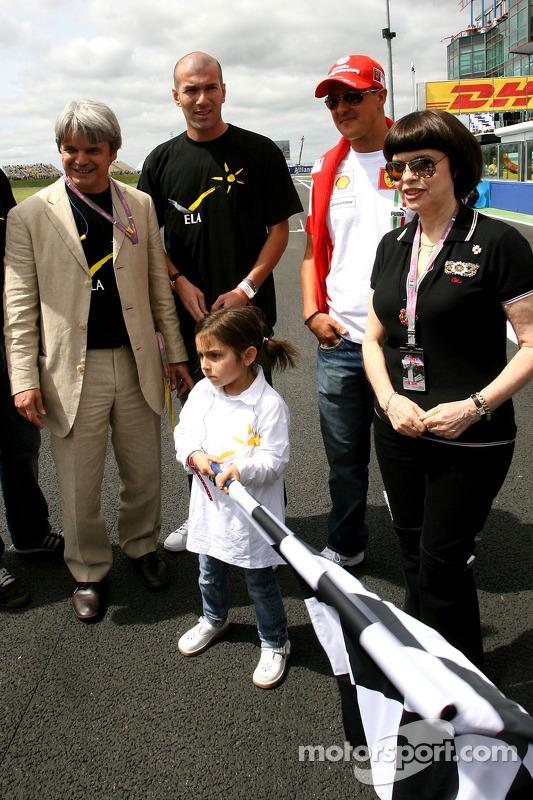 Michael Schumacher, Scuderia Ferrari, Advisor and Zinedine Zidane