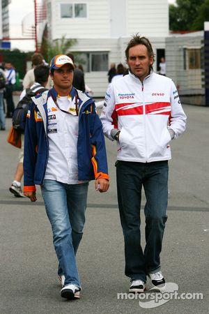 Nelson A. Piquet, Test Pilotu, Renault F1 Team, Franck Montagny, Test Pilotu, Toyota F1 Team