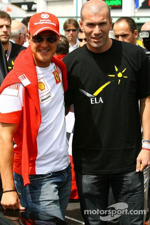 Michael Schumacher, Scuderia Ferrari, Advisor and Zinedine Zidane Famous Football Player