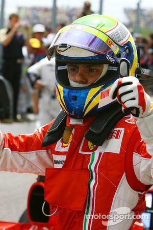 Ganador de la Pole Position Felipe Massa, Scuderia Ferrari, F2007