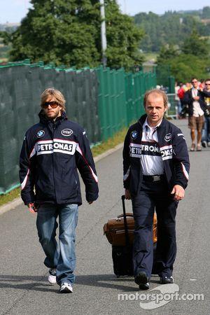 Ник Хайдфельд, BMW Sauber F1 Team, и Йозеф Леберер