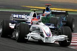 Robert Kubica, BMW Sauber F1 Team , Jenson Button, Honda Racing F1 Team