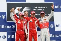 Кими Райкконен, Scuderia Ferrari, Фелипе Масса, Scuderia Ferrari, Льюис Хэмилтон, McLaren Mercedes и