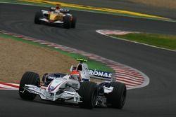 Robert Kubica, BMW Sauber F1 Team, F3.07 ve Giancarlo Fisichella, Renault F1 Team, R27