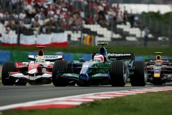 Rubens Barrichello, Honda Racing F1 Team, RA107 and Ralf Schumacher, Toyota Racing, TF107