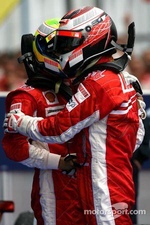 Kimi Raikkonen, Scuderia Ferrari, Felipe Massa, Scuderia Ferrari