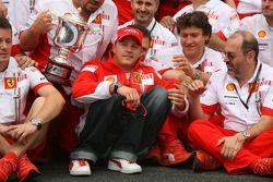Kimi Raikkonen, célèbration Ferrari