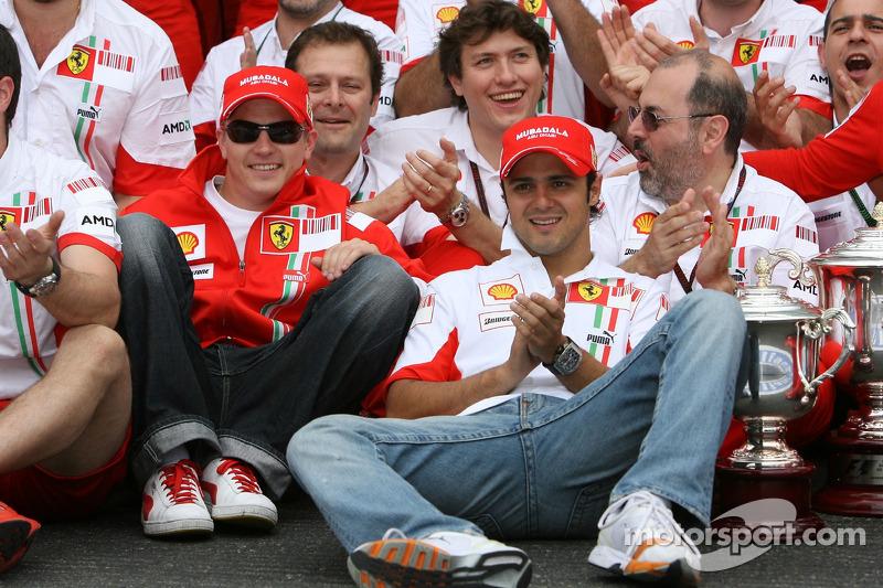 Kimi Raikkonen, Scuderia Ferrari, Felipe Massa, Scuderia Ferrari, Ferrari celebration