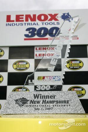 Victory lane: le trophée du vainqueur