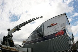 Red Bull Racing energy station, is assembled padok