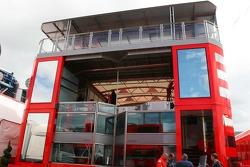 Scuderia Ferrari Motorhome is constructed