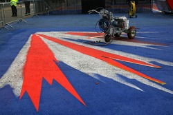 Silverstone logo is painted onto taban, padok