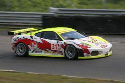 #31 Petersen White Lightning Ferrari 430 GT: Tomas Enge, Darren Turner, Michael Petersen