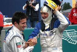 Nicolas Minassian is congratulated by Jean-Marc Gounon