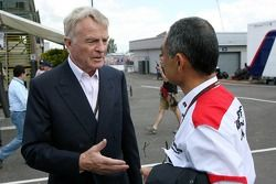 Max Mosley, FIA President, Hiroshi Yasukawa, Bridgestone