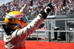 Pole de Lewis Hamilton, McLaren Mercedes, MP4-22