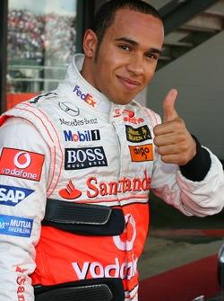 Ganador de la Pole Position, Lewis Hamilton, McLaren Mercedes, MP4-22