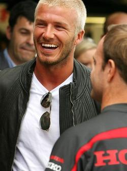 David Beckham, Rubens Barrichello, Honda Racing F1 Team