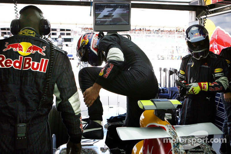 Mark Webber, Red Bull Racing, durante la carrera