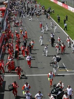 Equipos de preparación para la carrera