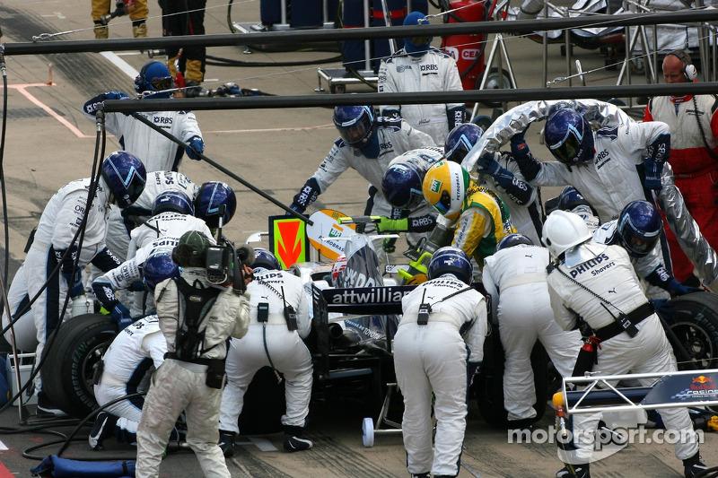 Alexander Wurz, Williams F1 Team, FW29, pitstop