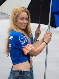 Speed World Challenge flag girl