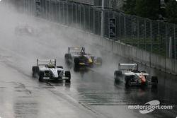 Restart: Franck Perera and Junior Strous battle for the lead