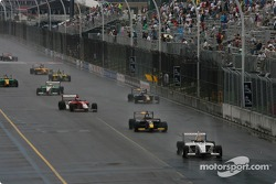 Franck Perera leads the field under another yellow