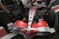 Fernando Alonso, McLaren Mercedes, détail de carrosserie avant