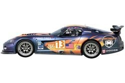 Renderings of the No. 13 Dodge/KUMHO Tires Dodge Viper Competition Coupe that will compete at Mid Ohio Sports Car Course in the Comp. Coupe's first entry in American Le Mans competition