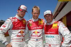 Top 3 of qualifying: Mattias Ekström, Audi Sport Team Abt Sportsline, Portrait, Martin Tomczyk, Aud