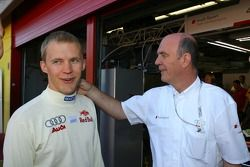 Mattias Ekström, Audi Sport Team Abt Sportsline, Portrait et Dr. Wolfgang Ullrich, directeur des spo