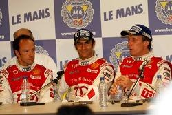 Conférence de presse d'après-course: Marco Werner, Frank Biela, Emanuele Pirro