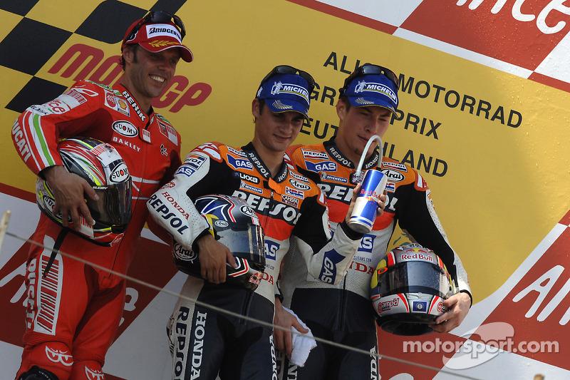 2007. 1 Dani Pedrosa 2. Loris Capirossi. 3 Nicky Hayden