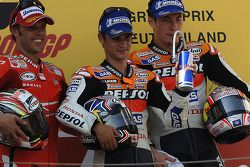 Podium: 1. Dani Pedrosa, 2. Loris Capirossi, 3. Nicky Hayden