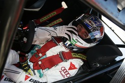 Max Biaggi, guest of Audi Sport, driving a few laps in an Audi DTM car