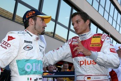 Max Biaggi, guest of Audi Sport, driving a few laps in an Audi DTM car, with Timo Scheider, Audi Spo