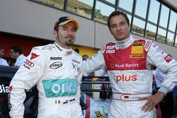 Max Biaggi, guest of Audi Sport, driving a few laps in an Audi DTM car, with Timo Scheider, Audi Sport Team Abt Sportsline