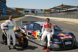 Max Biaggi, guest of Audi Sport, driving a few laps in an Audi DTM car, together with Timo Scheider,